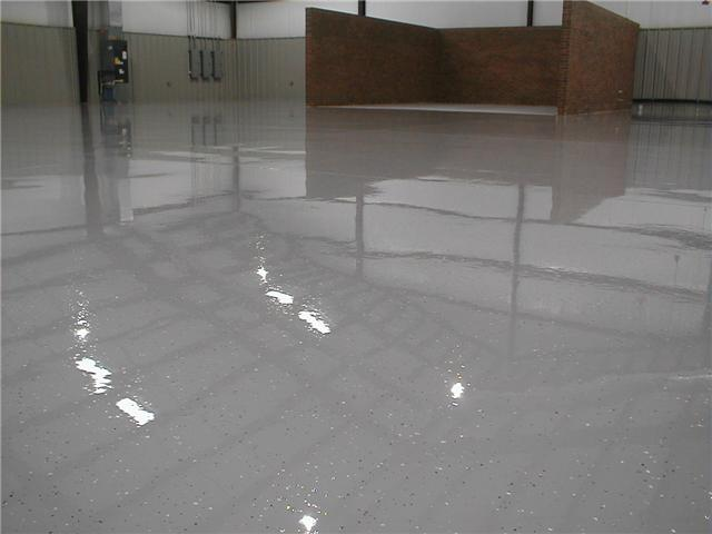 100% epoxy with chips and urethane top coat